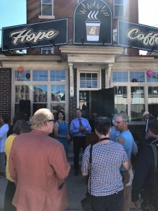 ECRM Clients Come Together at Hope & Coffee Ribbon Cutting